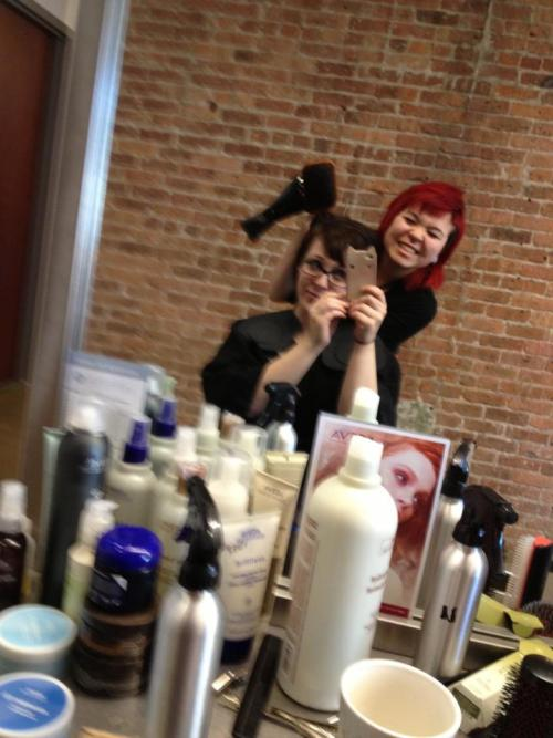 Gettin my hurr did by my bess friend. <3