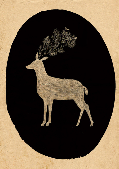 all-things-bright-and-beyootiful:  Deer Doodle by Lizzy Stewart
