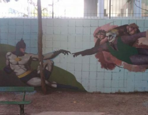The Creation of Batman Graffiti And in the beginning, God wanted to see the world burn.