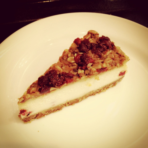 Starbucks; Granola Strawberry Yogurt Cheesecake