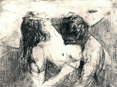 Edvard Munch - Preliminary study for The Kiss, c. 1897