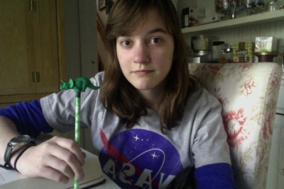 My only study buddy today is this triceratops pencil topper. Triceratopper.