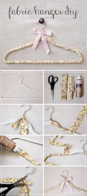 Take a peek at our Fabric Hanger DIY for a unique Mother's Day gift!