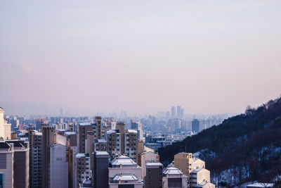 The Forest Of Buildings (by Yoonki Jeong)  Seoul, South Korea