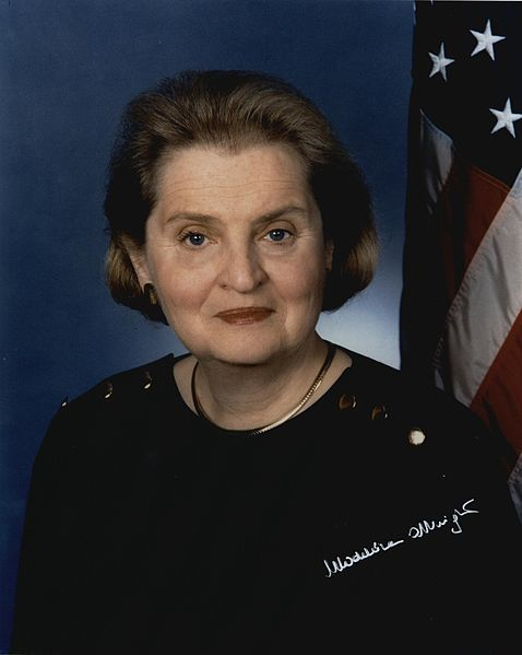 pbsthisdayinhistory:  Jan. 22, 1997: Madeleine Albright is Confirmed as the First Female Secretary of State On this day in 1997, Madeleine Albright was confirmed as Secretary of State by the US Senate. Albright was sworn in the following day. Serving under President Bill Clinton, she worked on issues revolving human rights, business, environmental standards, and focused on areas such as Kosovo, the Middle East and North Korea.   Read Frontline's interview with Madeleine Albright to learn more about her time as Secretary of State. Photo: Madeleine Korbel Albright - U.S. Secretary of State, January 23, 1997 – January 20, 2001 (U.S. Department of State)