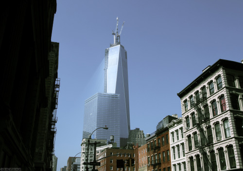 One World Trade Center With the spire installed, One World Trade Center becomes the tallest building in the Western Hemisphere and the third-tallest building in the world by pinnacle height.