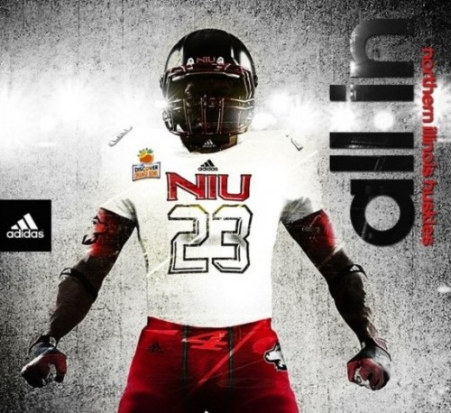 New NIU Huskies football uniforms and cleats for 2013 Orange Bowl [Photos] For the latest and greatest threads to hit the market, visit Gamedayr Uni Blog.