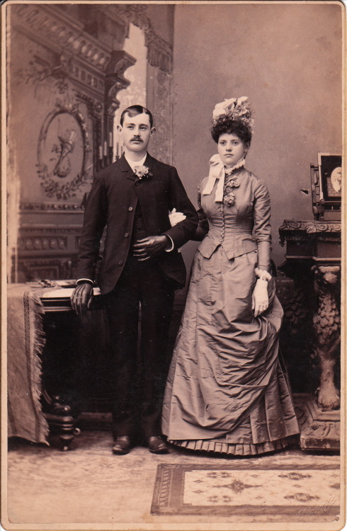 highvictoriana:  Portrait of a couple from Fort Wayne, Indiana. Photographer: John A. Shoaff (1836-1921).