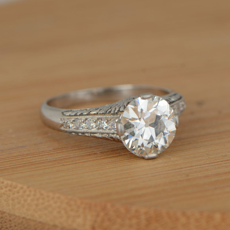A vintage engagement ring for a magical proposal.