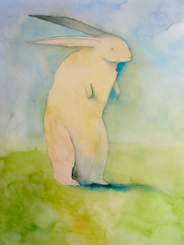 SethFitts aka Seth Fitts - Rabbit In The Grass, 2008                                      Traditional Arts: Paintings