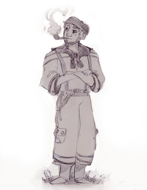 """Sailor"" Another sketch for GDC game: http://thatdragoncancer.com/"