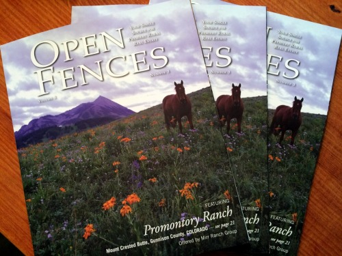 Cover Shot! Thanks to lots of wildflowers, a few horses, and a beautiful sunrise, one of my shots of Promontory Ranch scored the cover of Open Fence's fall edition.