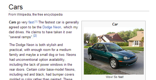 bugbucket:  important facts about cars, from Wikipedia, the free encyclopedia