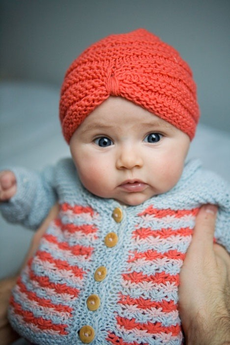 Crocheted Baby Turban (I want one for myself)