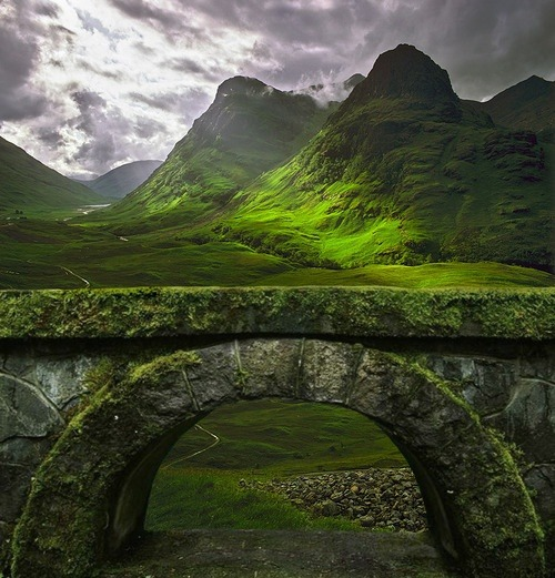 bluepueblo:  Ancient Arch, The Highlands, Glencoe, Scotland photo via besttravelphotos