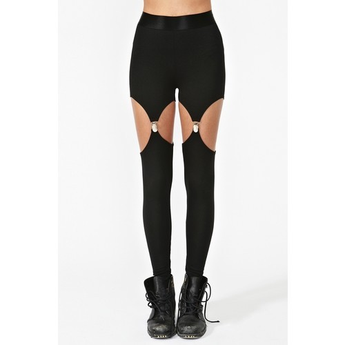 Legging   ❤ liked on Polyvore (see more cutout leggings)