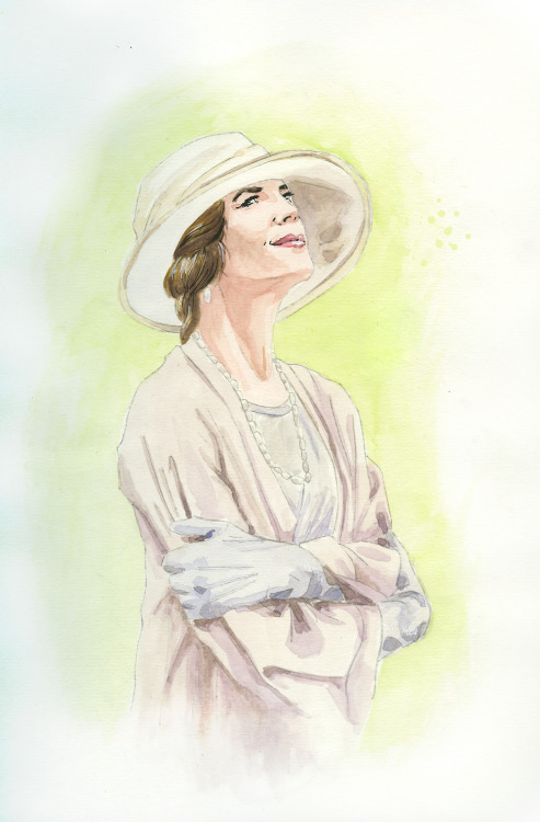 ladygranthams:   Cora Crawley, Lady Grantham (pencil, watercolour, black & white ink)