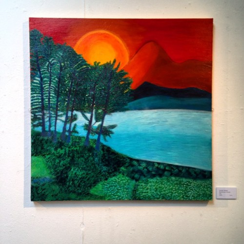 Glorious painting of Lake District by Sundar Walker from her 'Heaven and Earth' exhibition  (at The Brewery Arts Centre, Kendal)
