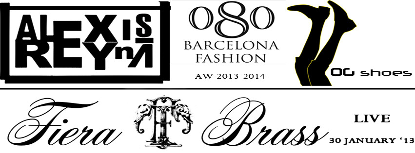 Alexis Reyna and Gigi D'Amico (OG shoes) back again at the 080 Barcelona Fashion week, showing the aw 2013-2014 collection and performing live with their band Fierabrass