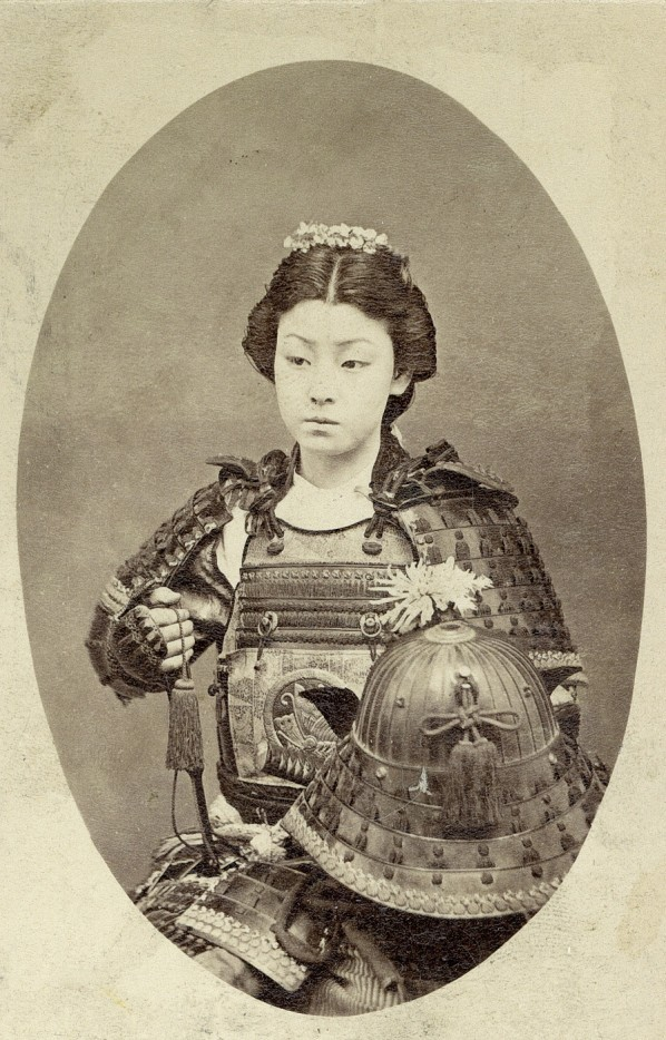 "Onna-Bugeisha: Japan, 19th Century (via Imgur) ""An onna-bugeisha (女武芸者) was a type of female warrior belonging to the Japanese upper class. Many wives, widows, daughters, and rebels answered the call of duty by engaging in battle, commonly alongside samurai men. They were members of the bushi(samurai) class in feudal Japan and were trained in the use of weapons to protect their household, family, and honor in times of war. They also represented a divergence from the traditional ""housewife"" role of the Japanese woman. They are sometimes mistakenly referred to as female samurai, although this is an oversimplification. Onna bugeisha were very important people in ancient Japan. Significant icons such as Empress Jingu, Tomoe Gozen, Nakano Takeko, and Hōjō Masako were all onna bugeisha who came to have a significant impact on Japan."" via Wikipedia"