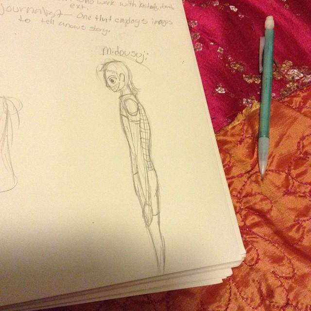 Drew him on my art homework #yowapeda #midousuji #drawing #school #art #arthom