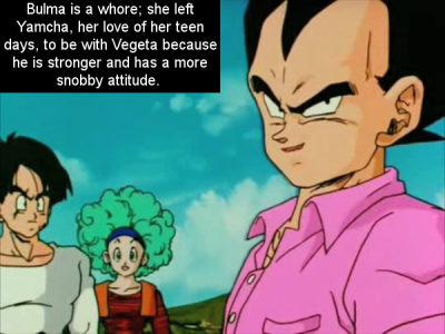 over9000feels:  supersassy-jin:  gokusdonut:  dbz-confessions:  Submitted by thebouzinator.  Oh my lanta… Please, don't bash the OP for this guys. Please, don't.  i'm trying  no just no   Yamcha cheated on her.  Vegeta all the way!!!!!!~!!!