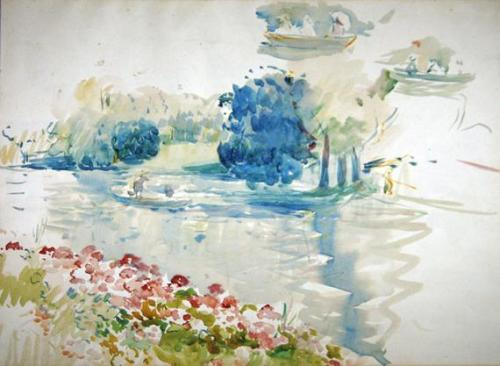 Berthe Morisot, 1893, Geraniums by the Lake