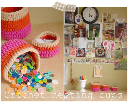littlecraziness:  (via versus: Crochet Nesting Cups Tutorial with Lorajean from Lorajean's Magazine)