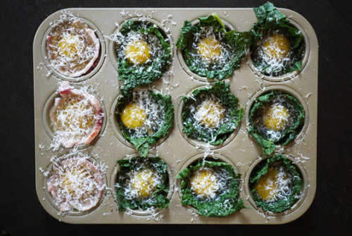 baked egg and kale cups: recipe here
