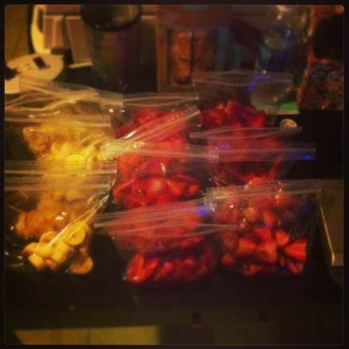 Strawberries .99cents at Dominick's, time to stockpile (at Krin's Couch)