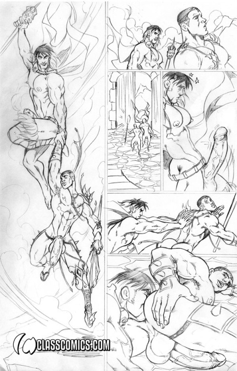 COMIC PAGE PENCILS by Patrick Fillion.  All characters are © Copyright & TM 2013, Class Comics Inc. All rights reserved.  www.classcomics.com
