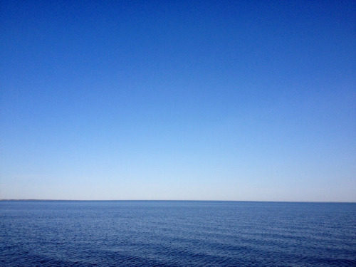 Blue.  Great South Bay, Long Island, NY.