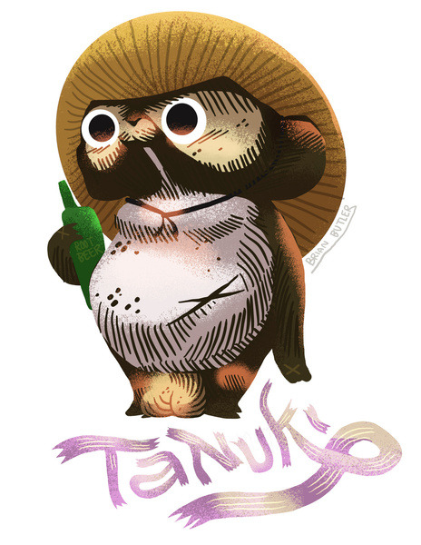 Root Beer Tanuki! Click his little nutsack, he's available on apparel!