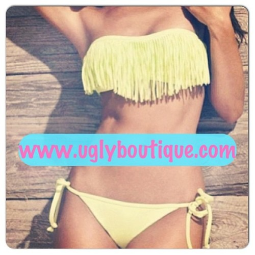 Tassel Fringe Bikini @ www.uglyboutique.com Only size M Left 🙅 #sexy #fashion #swimwear #bikini #bikinis #summerready #summer #beach #pool #poolparty #ladies #women #girly #cute #fringe #instafashion #water