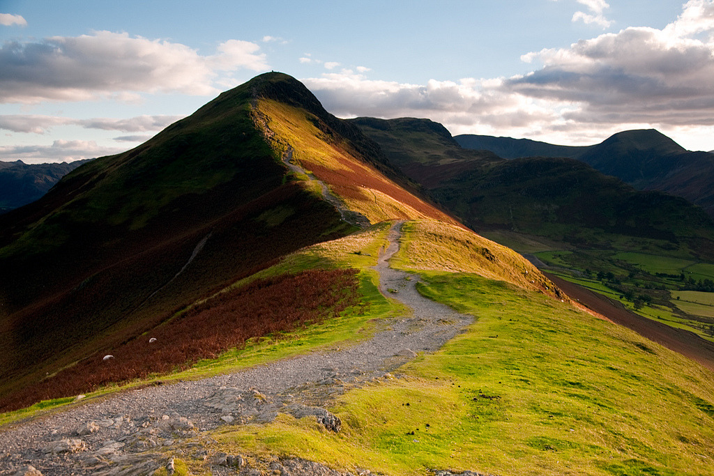 Late light on Cat Bells, nearly. by Tall Guy on Flickr   (Larger) Overlooks Derwent Water in the English Lake District of Cumbria. Click here for a view from the top.