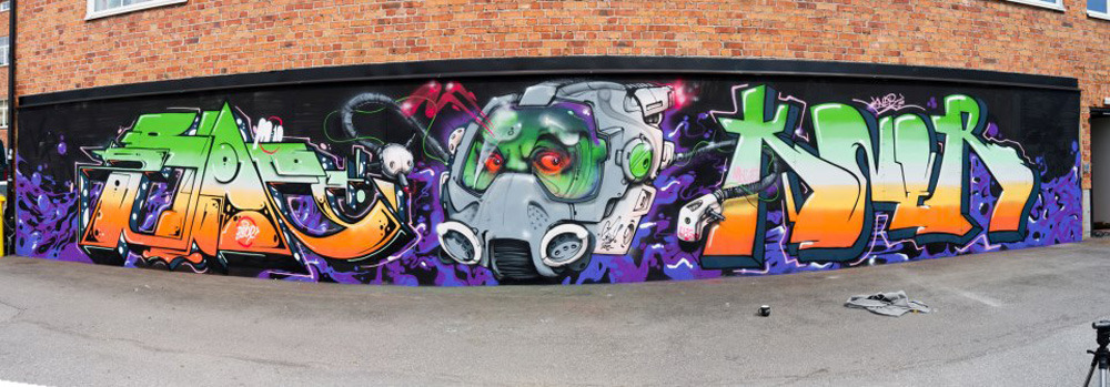 From two weeks ago with Bbop and Kner. Space helmets and styles.  Gouge One