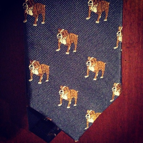 #bulldogs #embroidery #neckwear #menswear #silk #sirjacks