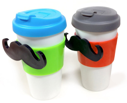Magstache Magnetic Travel Mug