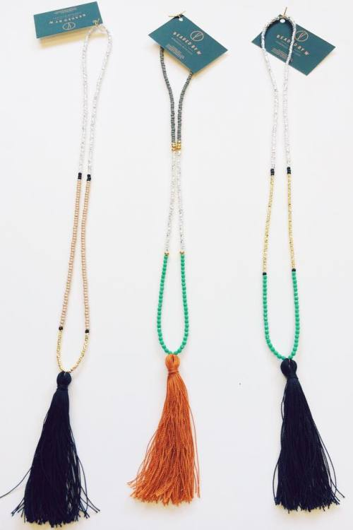 beaded necklace beaded necklaces beadedbyw tassel necklace