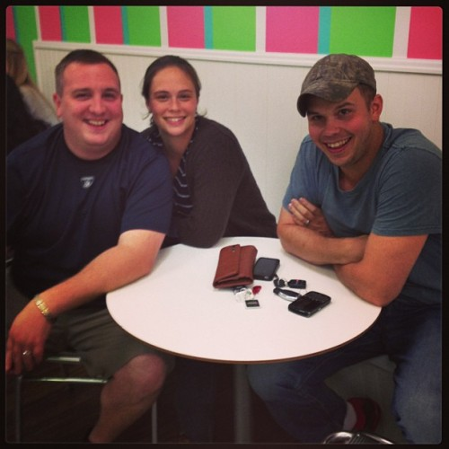 Sweet frog!!!  Keith Terri and marker :) (at Sweet Frog)