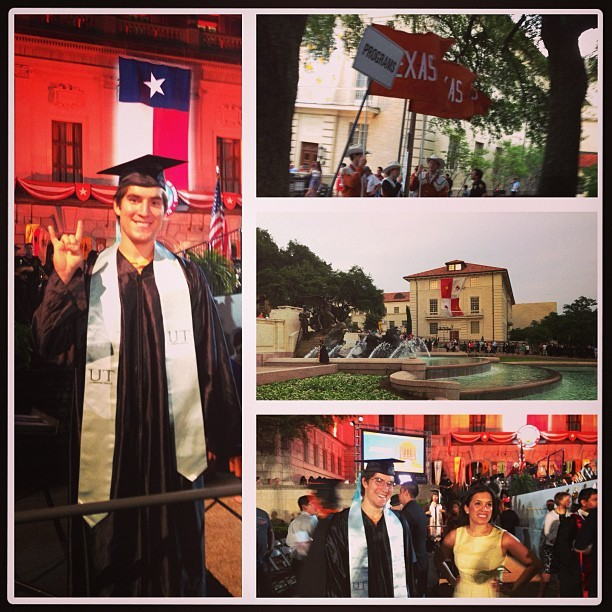 Baby brother graduates UT! #Austin (at The University of Texas at Austin)