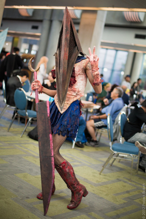 rockmanistheshit:  cosplayeverywhere:  Pyramid Head x Sailor Moon  What a combination!! DOPE!