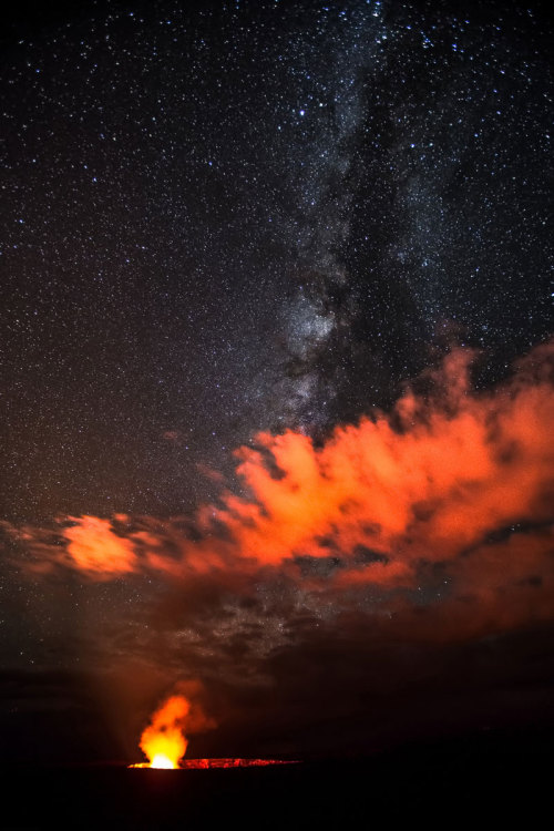 Milkyway Over Halema uma u Crater