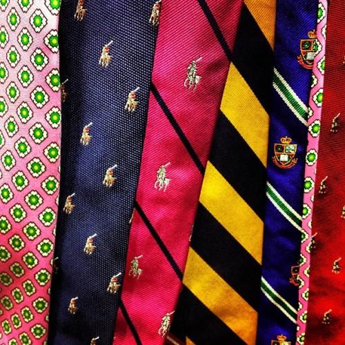 Beautiful neckwear choices at Ralph Lauren.  #windowshopping #tie #menstyle #mensstyle #mensfashion #shopping #neckwear #fashion #style #ralphlauren #latergram #preppy #preppystyle