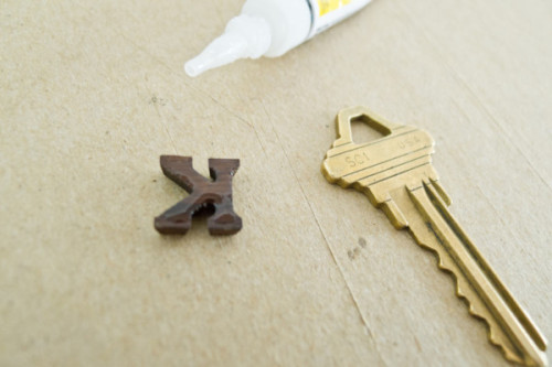"cjwho:  MAKE IT MODERN: DIY COLORFUL PLASTI DIP KEY TOPS  Supplies: - keys - Performix Plasti Dip Create Your Color - Super Glue - miniature figures or letters (I found a good selection of these at AC Moore and my local Artist & Craftsman) - glass mixing containers (a note on that below) - a pack of toothpicks, coffee stirrers, or small paint brushes - a craft knife  Step 1: Figure out how you want your miniatures set on the key, and glue them on. Be careful and quick when you're placing them – the glue dries fast and strong, so you won't get too much of a chance to reposition anything. When considering placement, make sure you leave space for a key hole if you intend to use a key ring.  Step 2: Mix your colors – the tints are VERY heavily pigmented, so a little goes a long way. Keep in mind that less is more, and only mix a drop or two at a time. For example, I made a pretty aqua using about 2 drops of blue, 1 drop of yellow (pictured), and a drop of white. You really don't need much. Start small and add slowly as you need.  Step 3: Here's where the Plasti ""Dip"" was a little misleading. Since you're using miniatures, you don't actually want to dip the keys. Rubberizer is really goopy and fills in holes, so if you dip, you could end up with little blobs instead of figures or letters. Instead, use a brush or – what I ended up using – a toothpick to carefully apply the colors. If you apply too much or it hides detail around the edges, you can use a craft knife to trace around your miniature for more detail before you put on a second or third coat. It'll look a little weird at first, but just pull off any little nubs you don't want and it'll work itself out after a couple more coats.  Step 4: Let the Plasti Dip dry for at least 24 hours before using, and you're set!  via"