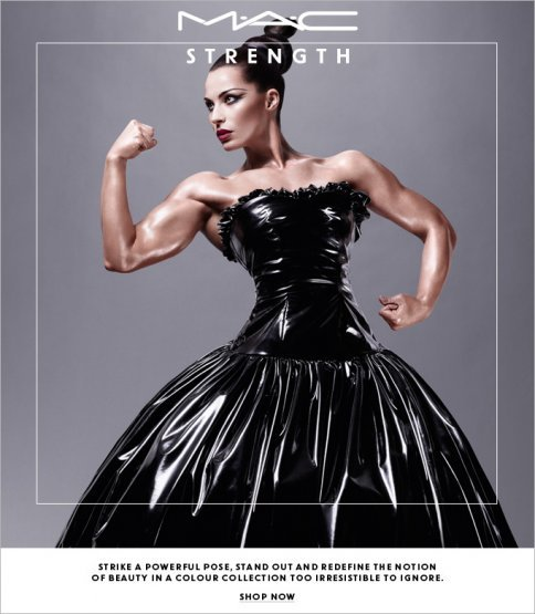 "MAC Puts Female Bodybuilder in a Cosmetics Ad http://www.adweek.com/adfreak/mac-puts-female-bodybuilder-cosmetics-ad-146403 http://jezebel.com/5973202/mac-put-a-female-bodybuilder-in-a-makeup-ad-and-its-beautiful Fashion and beauty are two markets that interests me.  Companies within those markets are extremely competitive, always fighting and pushing to be on top.  I found these two articles very exciting to read.  MAC, one the top cosmetics in the world, has started this fresh new advertising campaign.  They brought in your not-so-average model, and dressed her up to promote their new collection called ""Strength"".  I think this a perfect way to incorporate the beauty of external strength along with inner strength.  It seems like MAC has created a new modeling concept, which will certainly attract a more wide range of customers.  Also, maybe it will inspire women around the world to stay healthy and fit.  Being tall and thin, like most models out there, is not the only way to feel sexy and beautiful :)"
