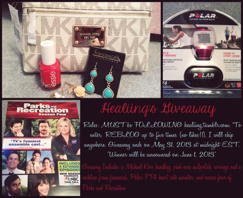 healiing:  Must be following healiing.tumblr.com to enter!!