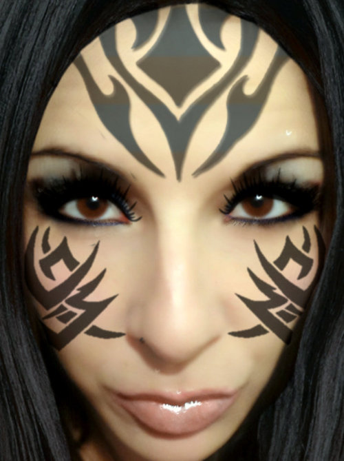 Warrior#brunette #photoshop #tattoo #woman #hot #face #sanjose #california #tribal #sfbay #fantasy(from @rsan on Streamzoo)