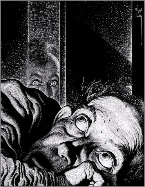 criminalwisdom:  Illustration by Virgil Finlay