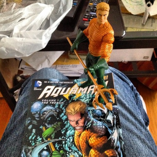 King of Atlantans! #aquaman #toys #tradepaper #book #comics #comicsbooks #dccomics #figure